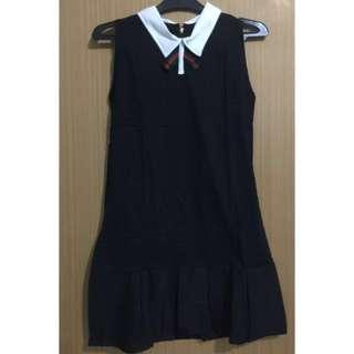 (NEW)Ribbon dress black