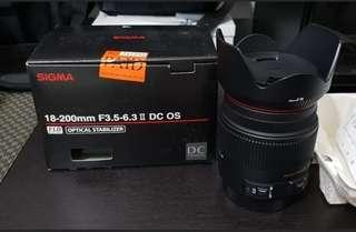 Sigma 18-200mm Canon mount
