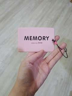 Memory luggage tag pink