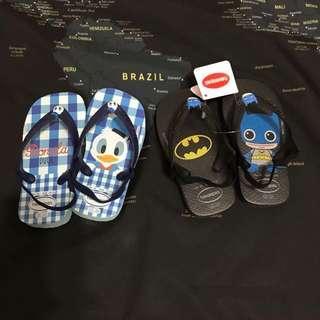 🚚 現貨-havaianas 哈瓦仕童鞋(唐老鴨/蝙蝠俠/迷彩)