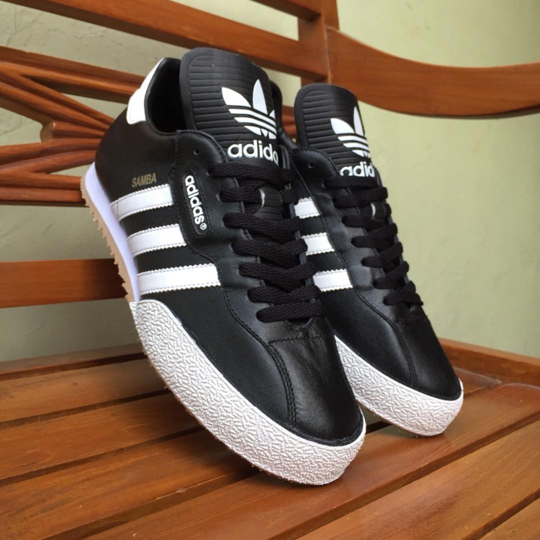 best sneakers 6a5e0 a3d87 Adidas Samba Super Leather Black White, Mens Fashion, Mens .
