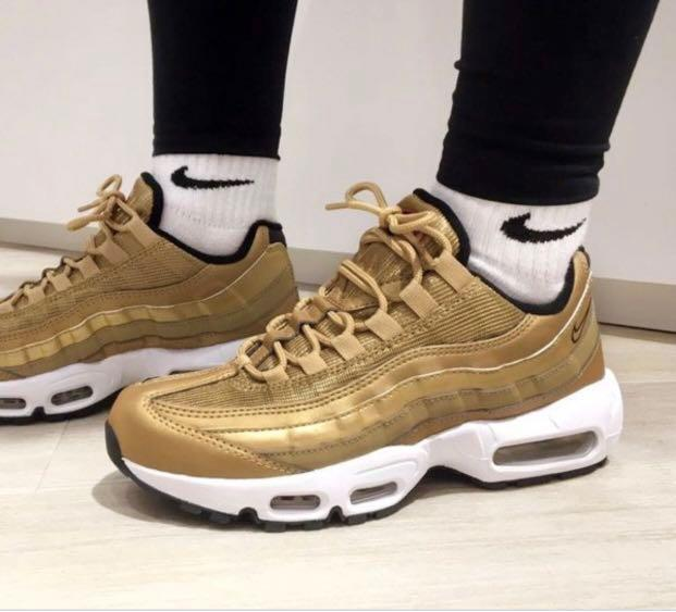 size 40 42ed6 a381f Authentic Nike Air Max 95 Gold uk 6 us 7, Women's Fashion ...
