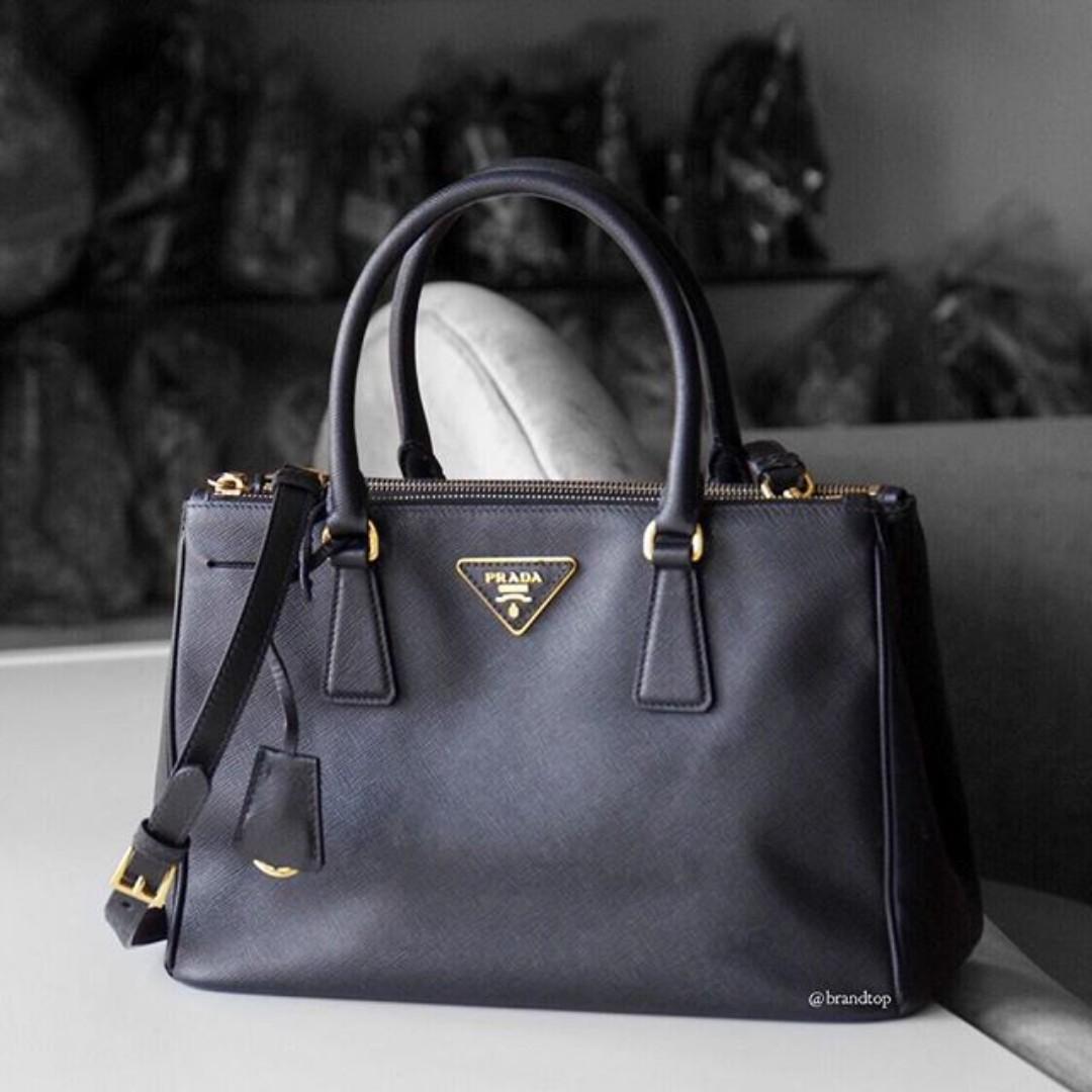 957b0e2947c9 Authentic Prada Black Saffiano Lux Tote Bag BN1801, Barangan Mewah ...