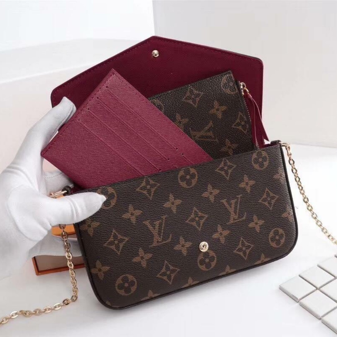 42f9d25ea9c7 Authentic Quality Louis Vuitton Sling Bag with Purse and Card Holder ...