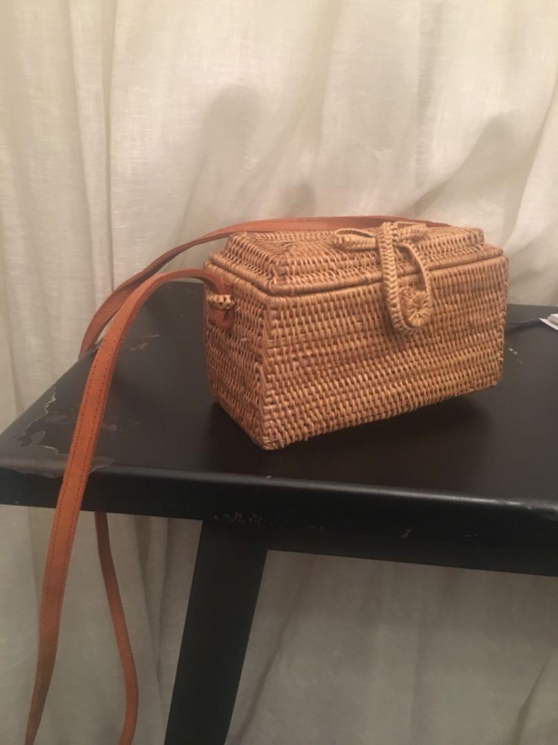 Balinese straw bag