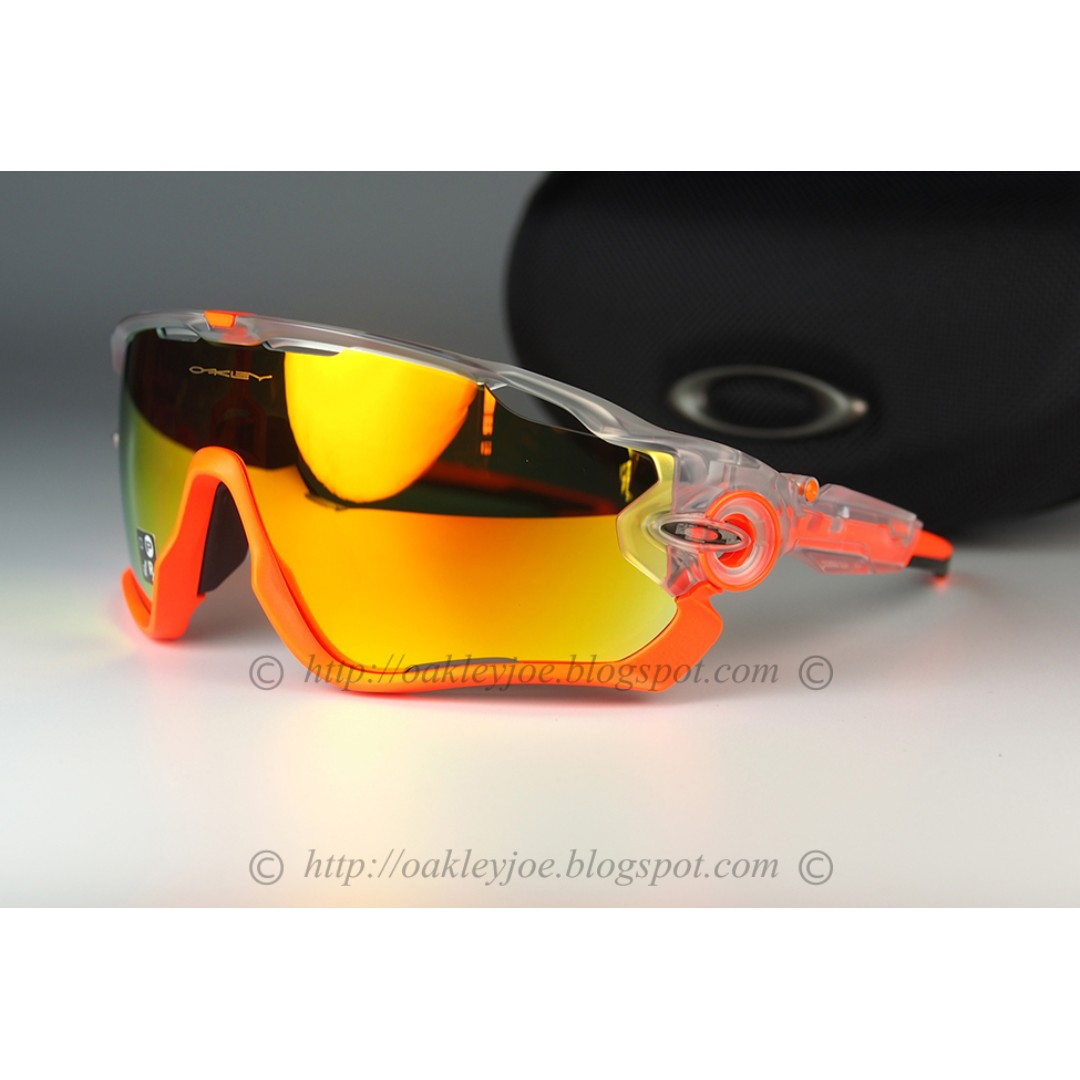 bdf0413840 BNIB Oakley Jawbreaker crystal pop + fire iridium oo9290-3731 ...