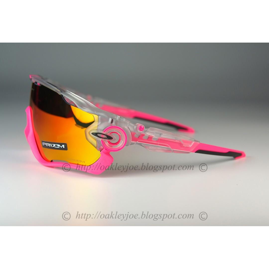 9b7ea3ab3f BNIB Oakley Jawbreaker crystal pop + prizm ruby iridium oo9290-3931 sunglass  shades