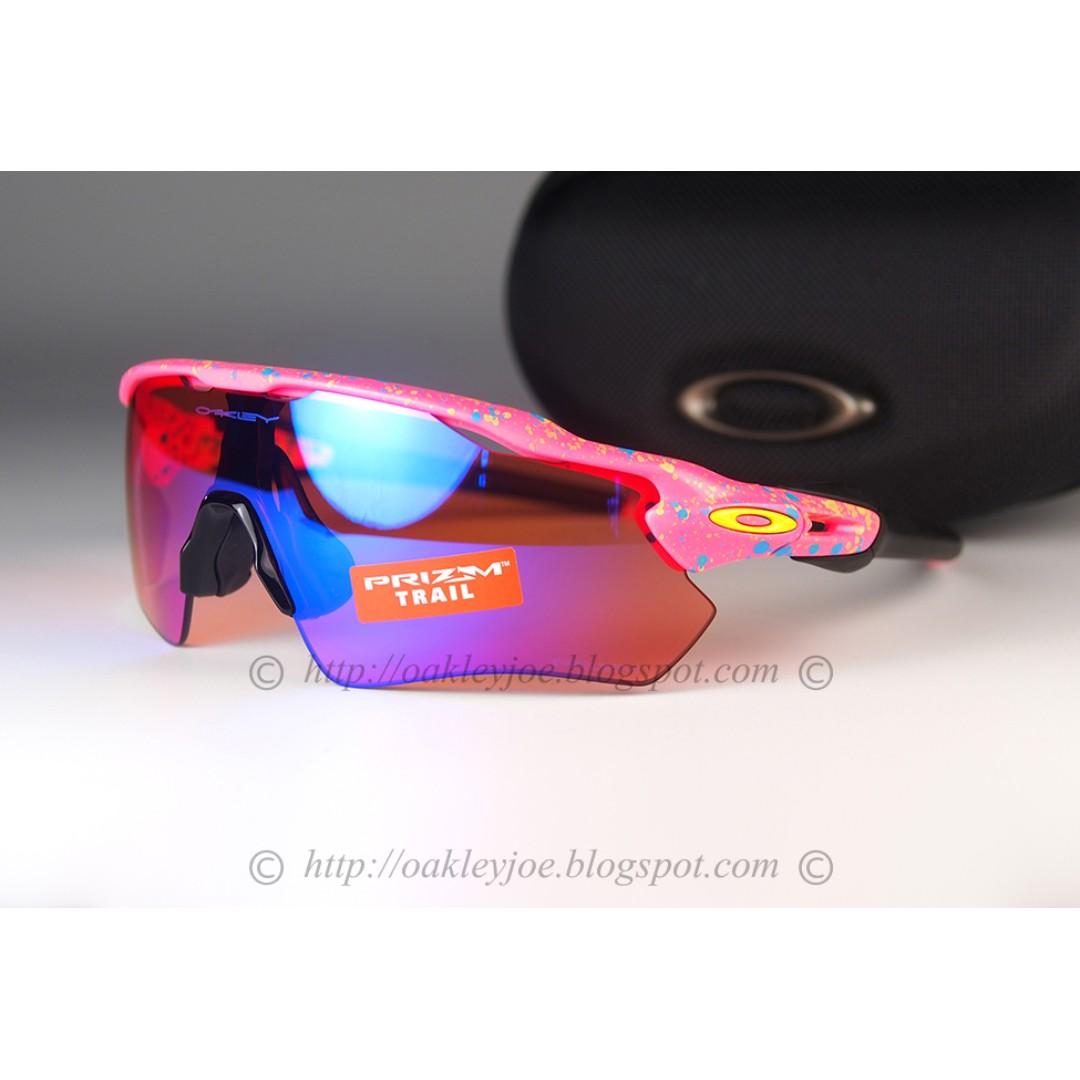 39d04647b6 BNIB Oakley Radar EV Splatterfade Collection splatter neon pink + ...