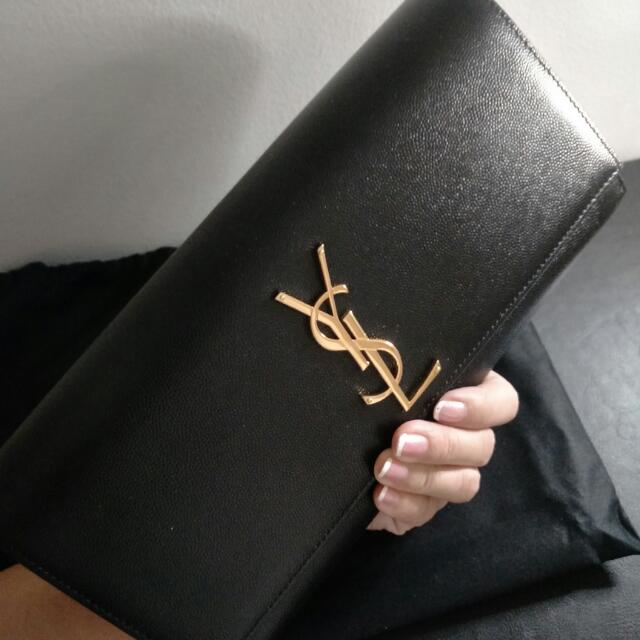 63e56a9e0b Brand new Authentic YSL clutch