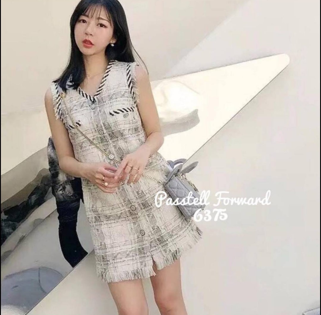 d73203a281c Chanel tweed dress