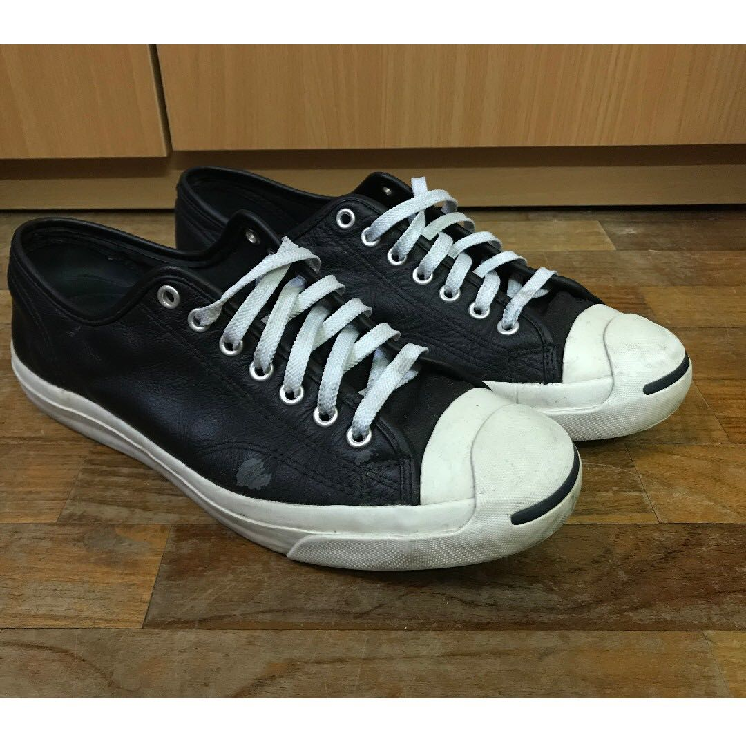 7aa0f404daba Converse Jack Purcell Black Leather Size 43 EU