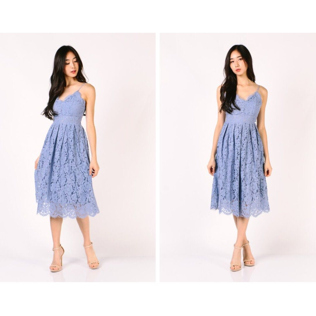 e6720766718 Dressabelle dress for SALE!! Premium Lace Midi Dress (Lilac) Small ...
