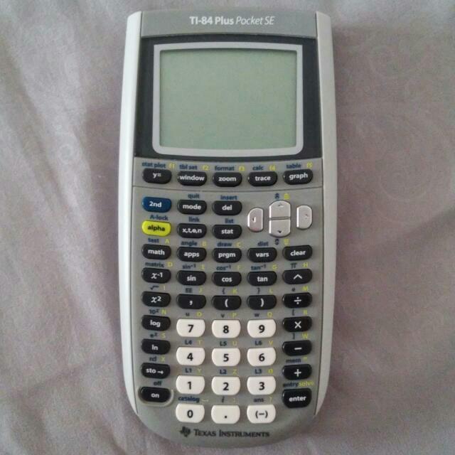 Graphing Calculator Ti 84 Plus Pocket