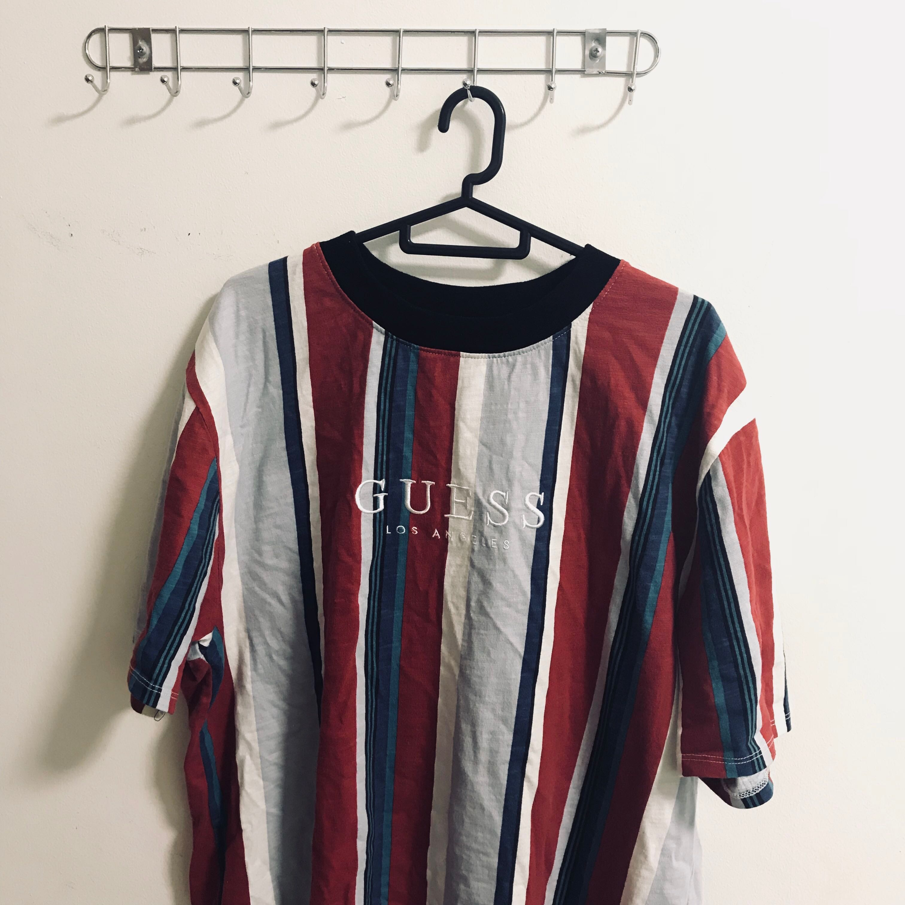 Guess Sayer Striped Shirt Men S Fashion Clothes Tops On