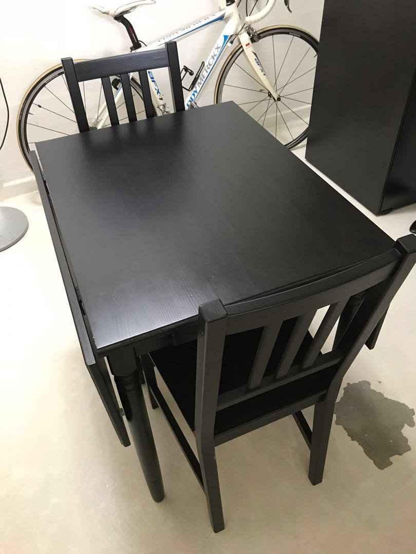 f8468d1fe Ikea Dining Set (Drop leaf Table + 2 chairs)