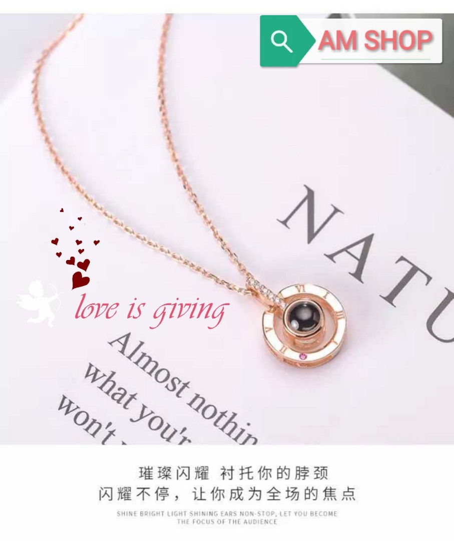 8ad27d293c Luxury women's 925 necklace with I Love You in 100 languages ...
