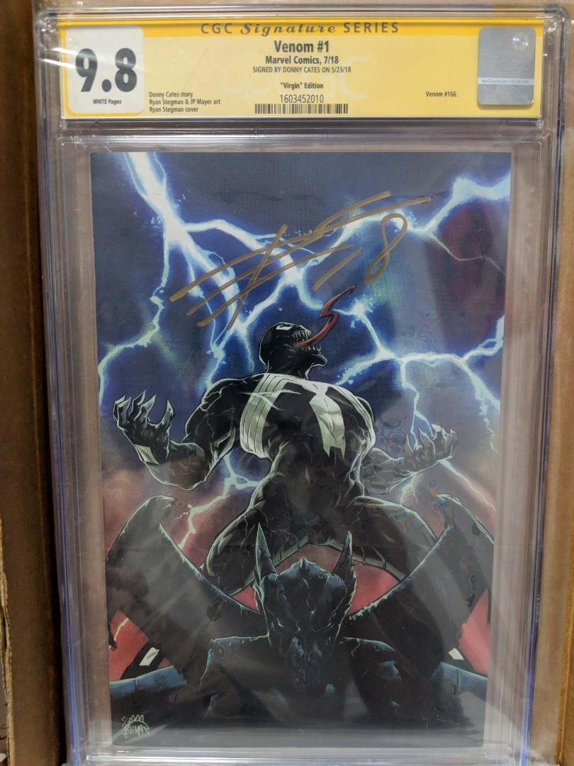 Marvel Venom #1 1:100 Stegman Variant  Signed by Donny Cates