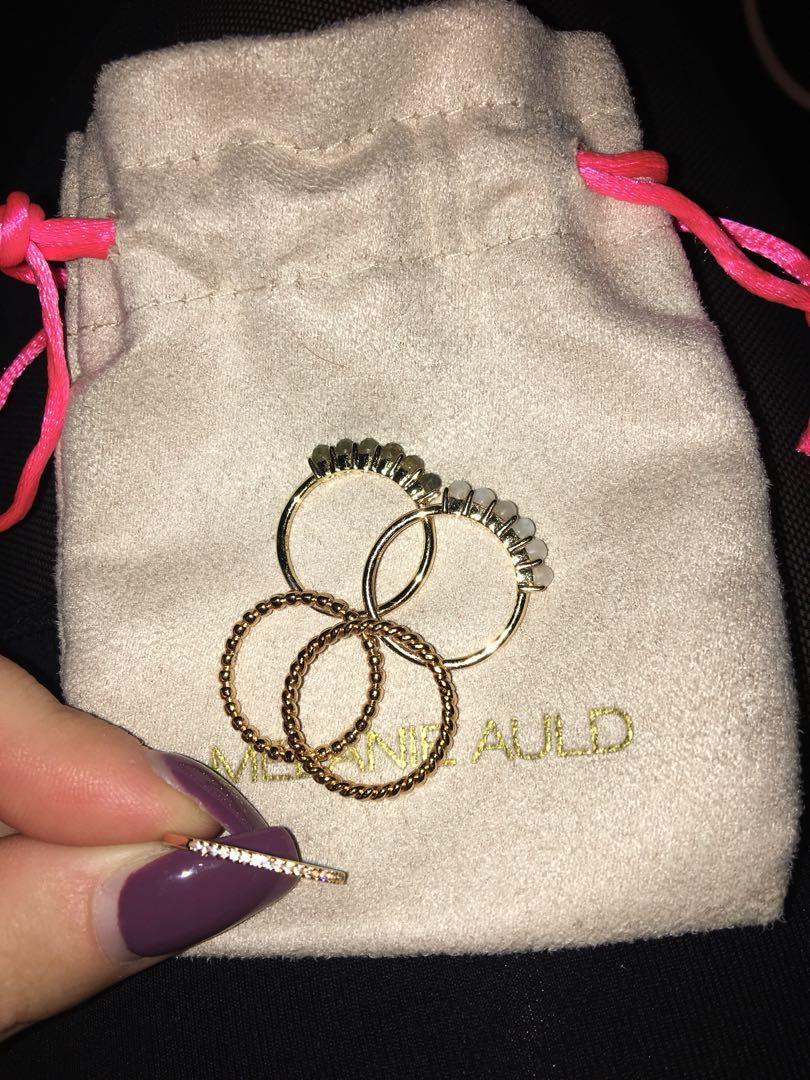 Melanie Auld rings - size 6