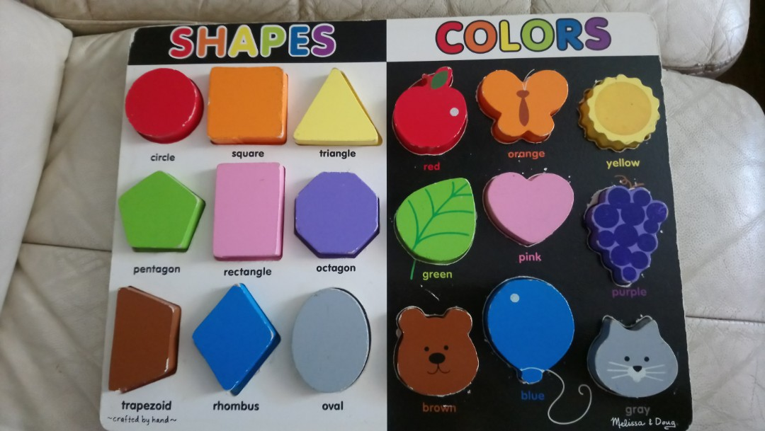 Melissa & Doug Shapes And Colors Chunky Puzzle, Toys