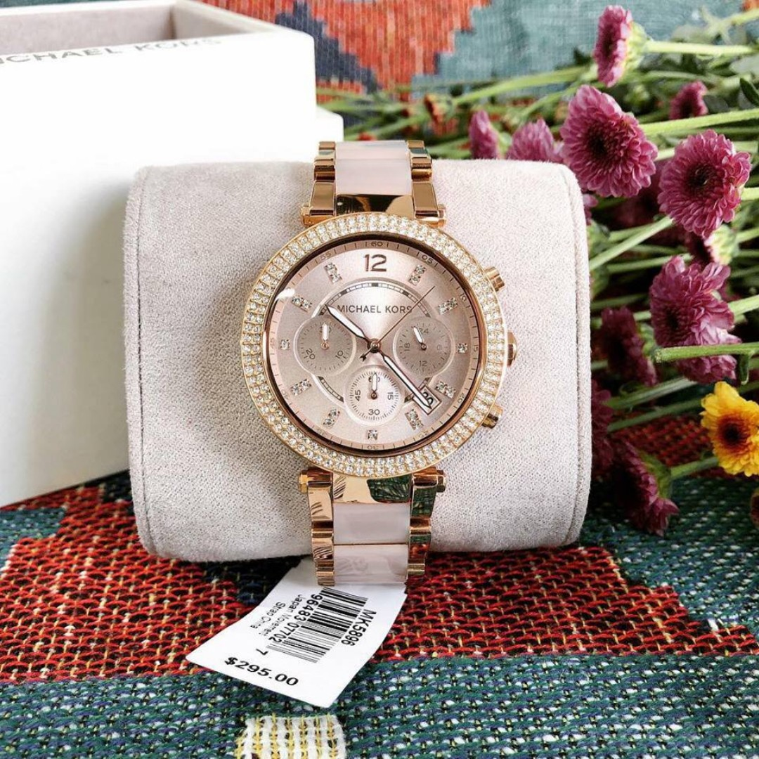 9a8c50143e9a Michael Kors Parker Blush Dial Women s Watch - MK5896