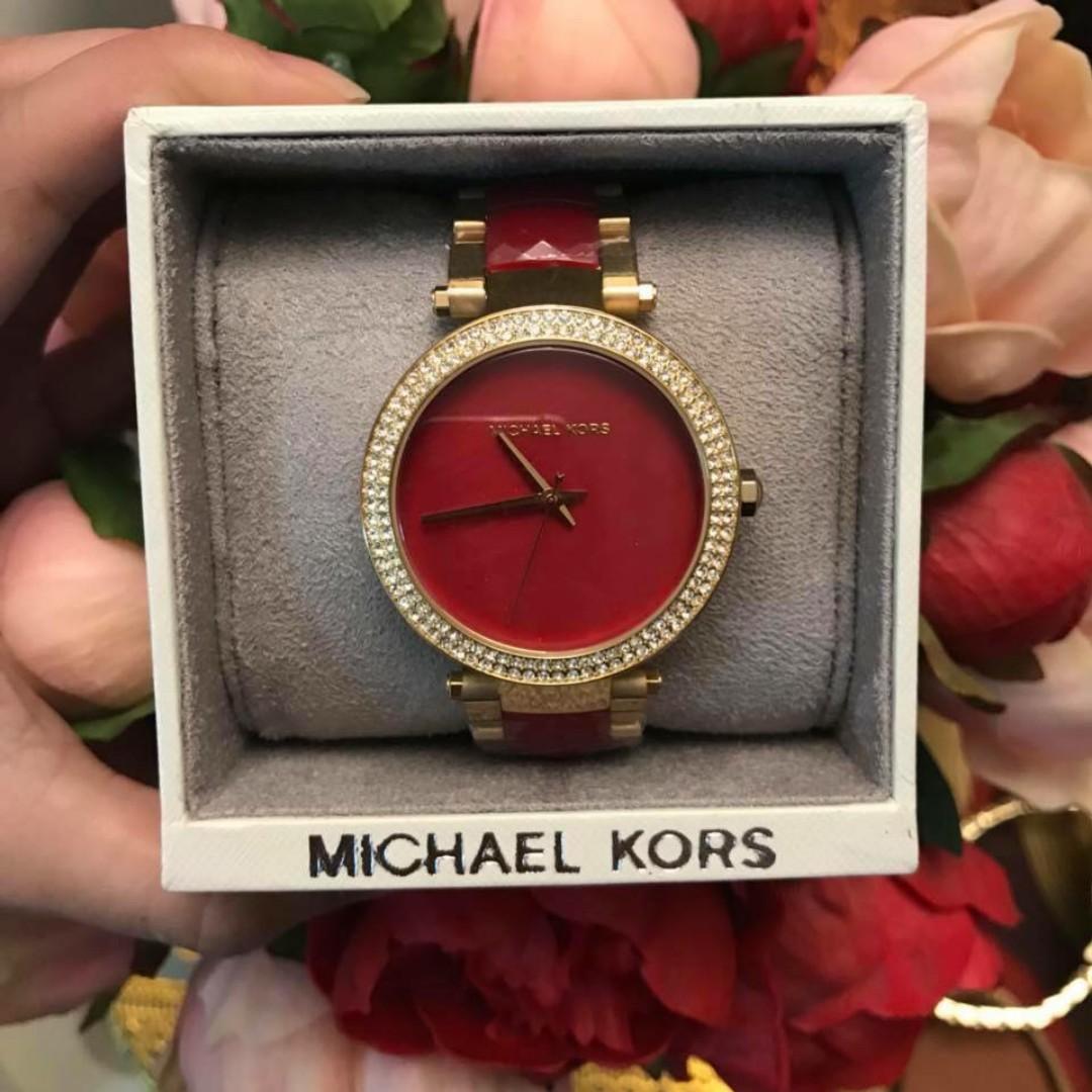 519085973e9 Michael Kors Parker Red Gold Stainless Steel Women s Watch - MK6427 ...