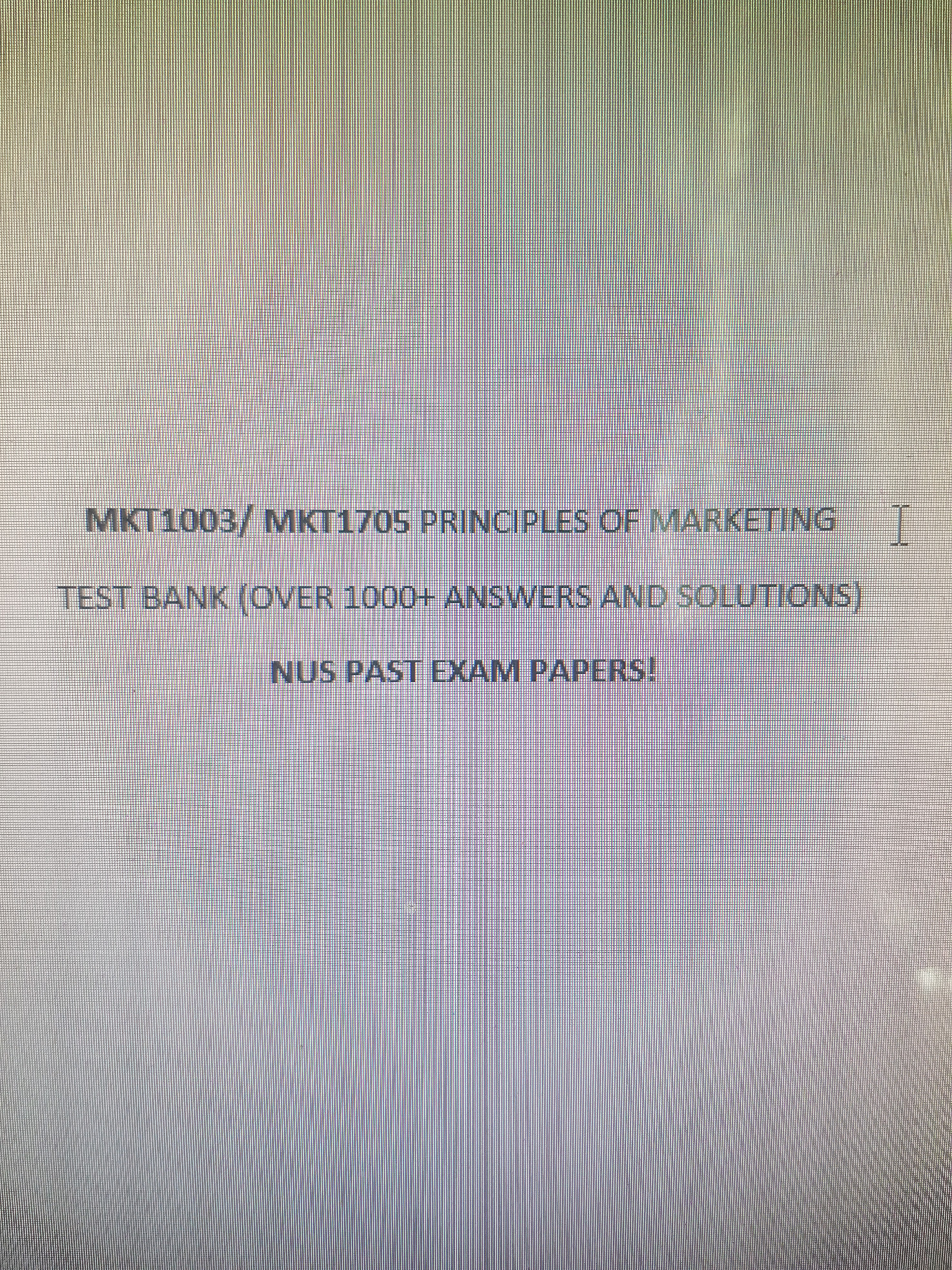 Mkt1705 Past Exam Papers Test Bank Solutions Books Stationery