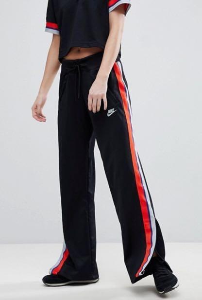 0f8f004d997d Nike Black Wide Leg Track Pants