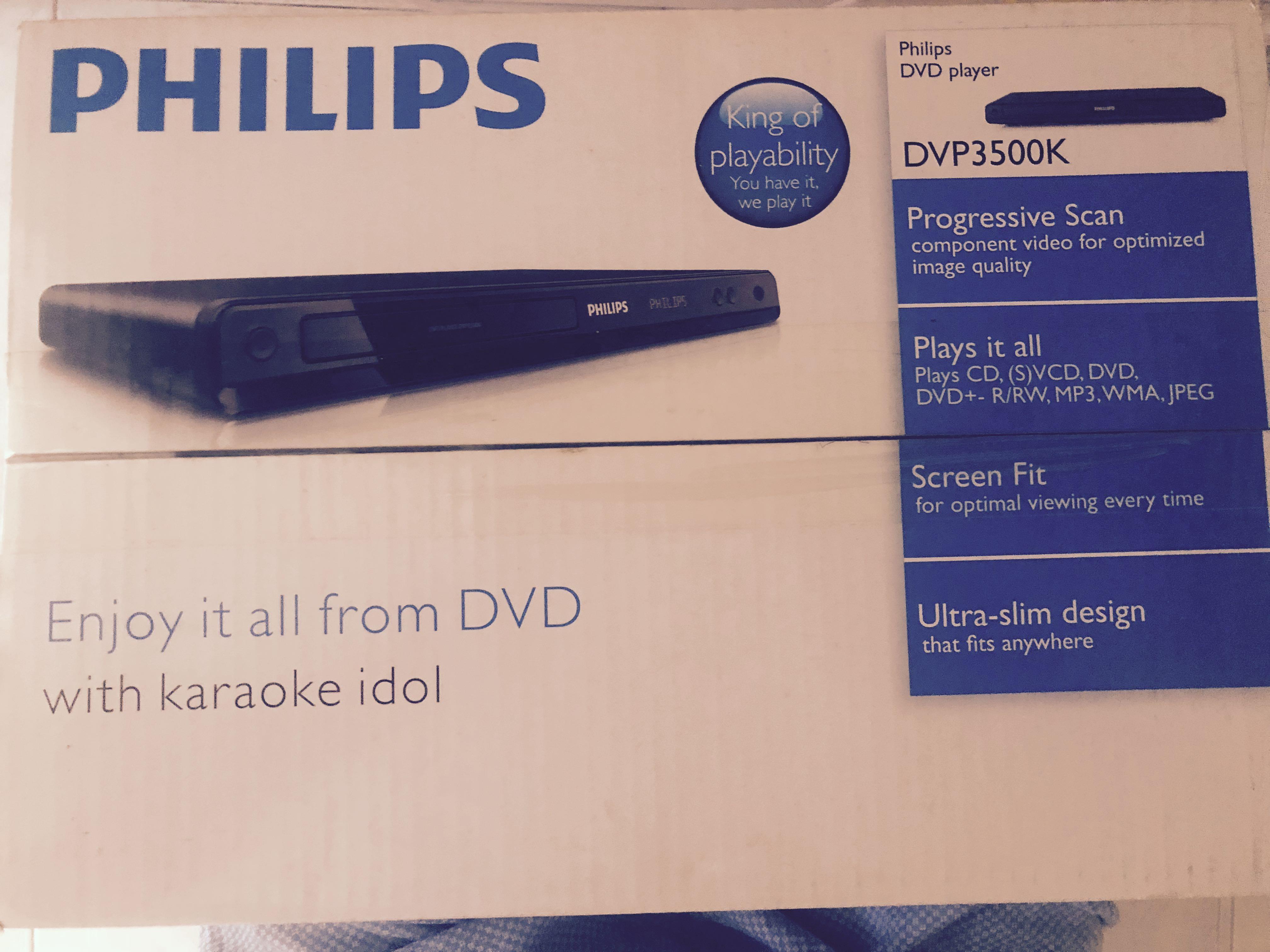 Philips DVD player DVP 3500k, Music & Media, CDs, DVDs