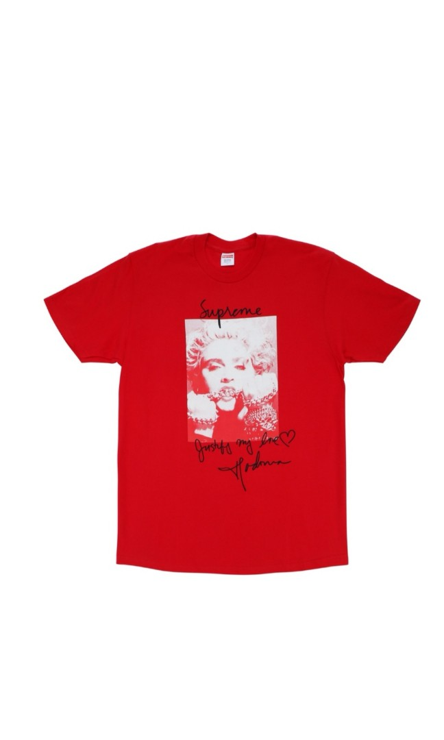 9775cbe52 Supreme Madonna Week 1 Tee, Men's Fashion, Clothes, Tops on Carousell