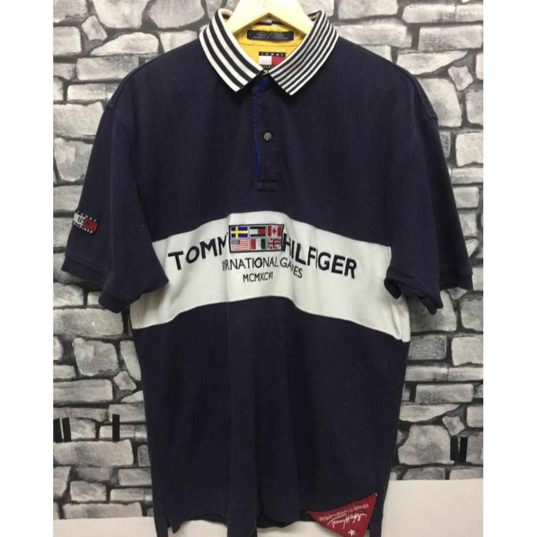 4c06a41fe Tommy Hilfiger USA International Games MCMXVI Indonesia Made, Men's ...
