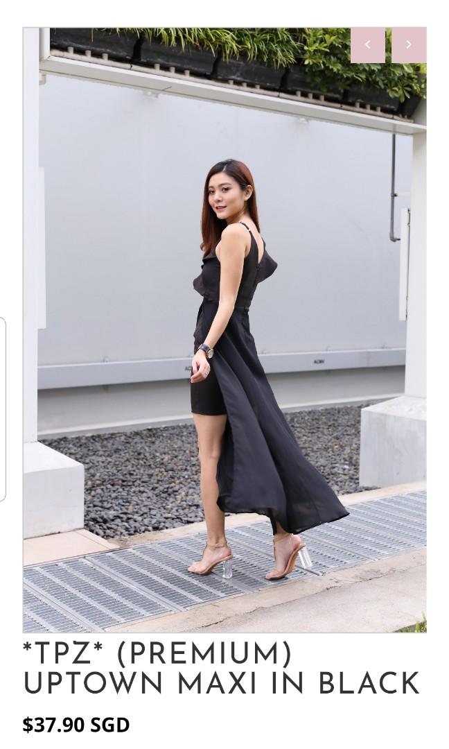 e0b96af9dc39 topazette uptown maxi dress in black S Size, Women's Fashion ...