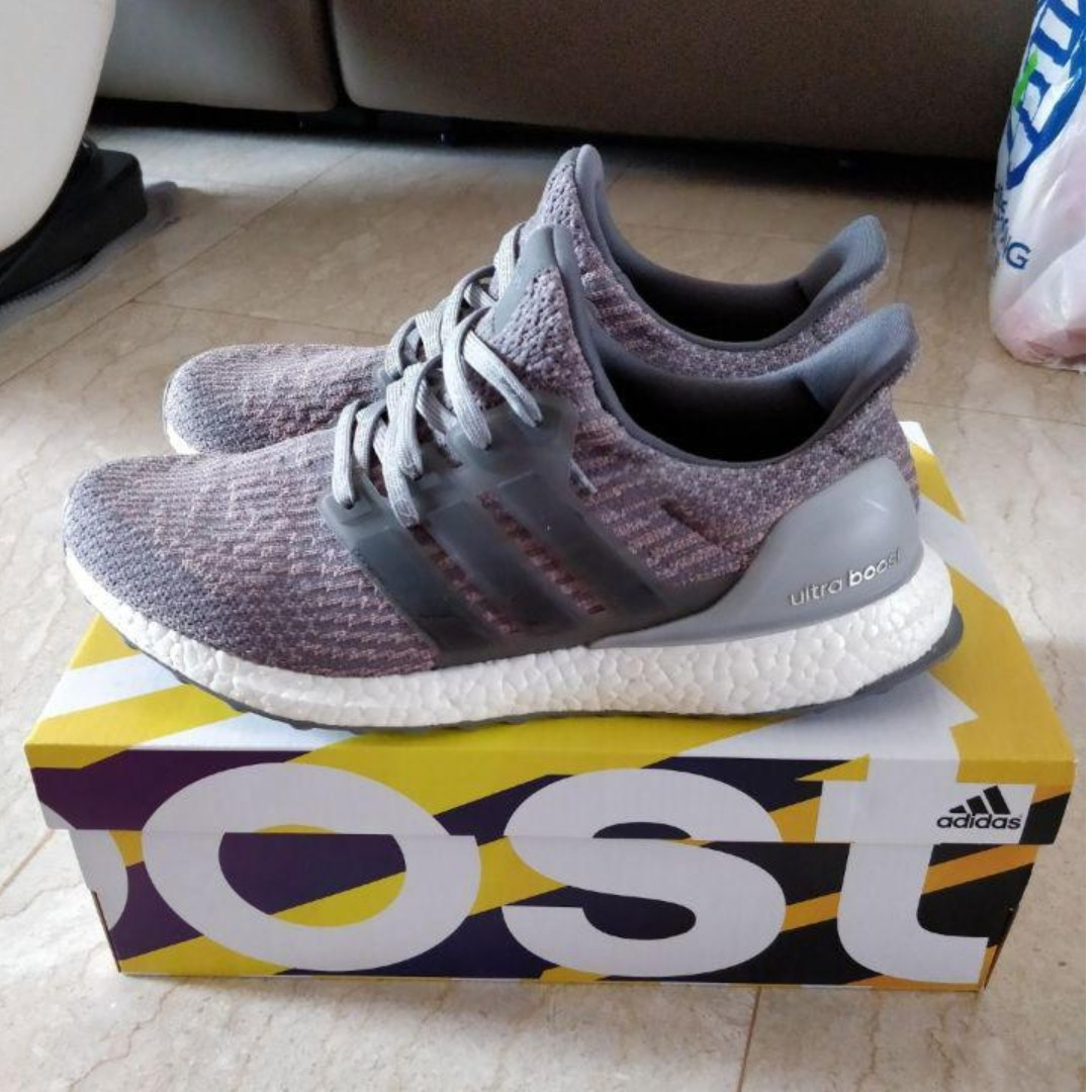 0493b265e6285 CHRISTMAS SALE 👟Ultra Boost 3.0 Grey Four Trace Pink US9 👟