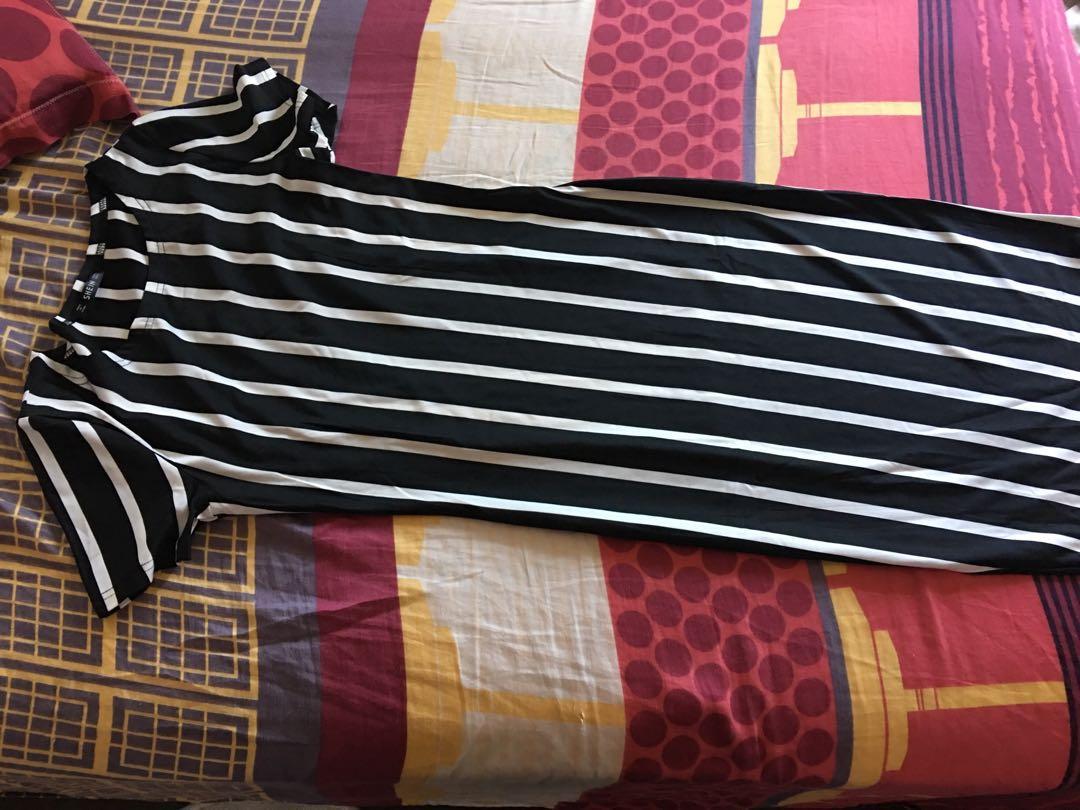 Vertical Striped Long Dress