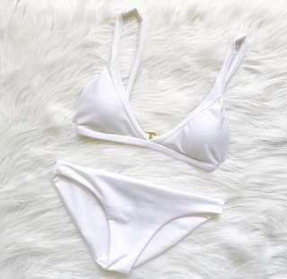 White two piece swimsuit