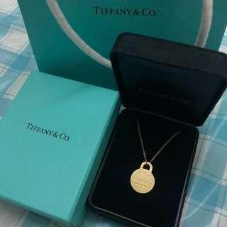 Tiffany 18k金 750 logo 頸鏈 頸鍊