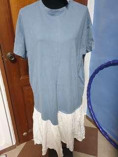 Plus Size Light Blue Dress