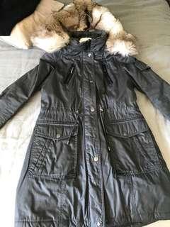 Designer shelli Seagle winter jacket (mink fur hood)