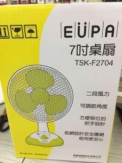 🚚 EUPA TSK-F2704 7吋 桌扇 電扇 風扇