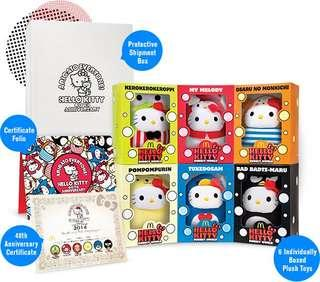 [BNIP] Hello Kitty Bubbly World Plush Toys - 40th Anniversary Limited Edition