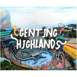 GENTING HIGHLAND INDOOR THEME PARK VOUCHER COUPONS BOOKLET