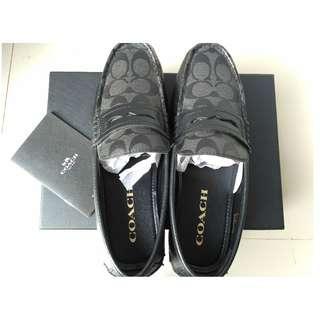 Jual Sepatu COACH Mott Penny Sig Black Original Ukuran 41 Fit 42