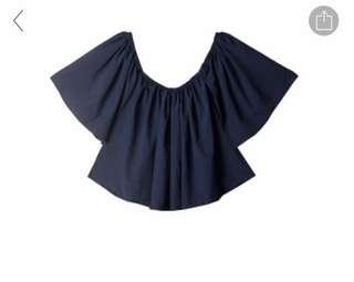 oversize off shoulder top