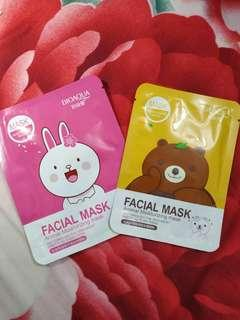 Masker line cony and brown