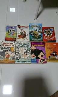 Box 1C Local Singapore children novels, game book & exciting adventure book learn English improve composition