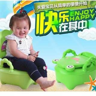 Baby Toddler Toilet Training Potty Seat★Frog Potty Seat