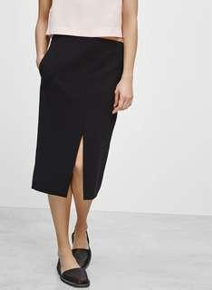 Babaton Jax Skirt (black, size 4) Aritzia pencil skirt