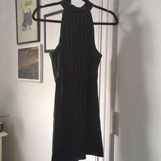 Highneck cut-out shirt dress