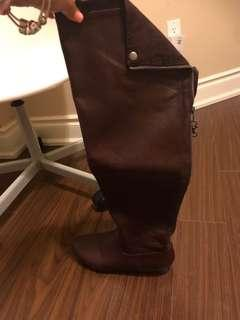 Worn twice over the knee dark burgundy boots size 7.5 free to whoever comes first
