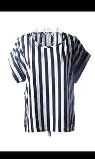 Chiffon stripes top