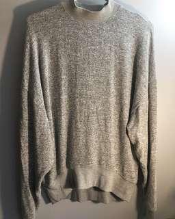 Topshop Grey Marl Sweatshirt - Size 4